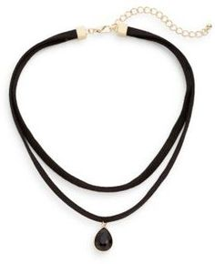 Layered Suede Choker Necklace