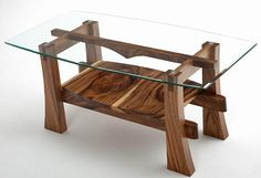 Brimming with intriguing modern design that simply radiates rustic elegance, our contemporary rustic coffee table is that desirable piece you've been searching for. The solid wood base has a shelf for added storage or display potential. The natural wood character, beauty, and uniqueness will vary so each piece is truly one of a kind. The