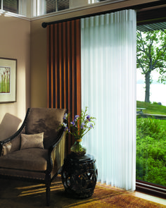 Luminette® Our sheers and shadings collection is made from a variety of soft fabrics, including opaque, translucent, semi-sheer, and room darkening materials.  Luminette® For wide windows and sliding doors, our Luminette® Privacy Sheers come in an array of sheer and drapery-like fabrics for unlimited light-control and privacy options.