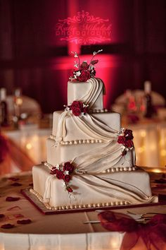Wedding Cake - Simple and Elegant #weddingcakessimple