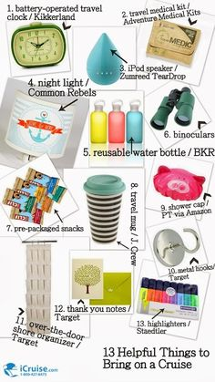 Cruise Packing Guide. 13 Helpful Things to Bring. See why you need thank you notes & metal hooks!