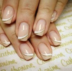 Top 45 Creative Gel Nail Art Designs Gallery If you're looking for an especially neat, put-together manicure, why not try out some gel nails? They're different from regular nail polish because the … Cute Nails, Pretty Nails, My Nails, Dark Nails, Long Nails, French Nails, Catherine Nails, Ongles Beiges, Gel Nail Art Designs