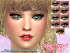 SenpaiSimmer's Starlight Eye Set | Sims 4 Updates -♦- Sims Finds & Sims Must Haves -♦- Free Sims Downloads