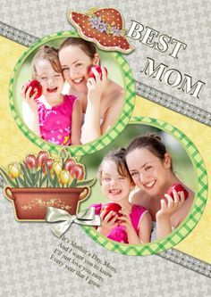 Here I use this greeting card to thank my great mom!