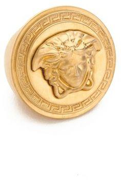 Versace Medusa Ring on shopstyle.com