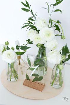 Ikea Hack - Wedding Table - - Decoration is My Job Wedding Table Flowers, Wedding Table Decorations, Bridal Shower Decorations, Table Wedding, Diy Wedding Table Numbers, Wedding Shot, Decor Wedding, Wedding Favors, Wedding Rings