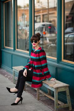 striped coat M Loves M @marmar