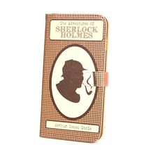Book phone /iPhone flip Wallet case- Sherlock Holmes for iPhone 6, 6 plus, 5, 5s, 5c, iPhone 4, 4s- Samsung Galaxy S6, S5 S4 S3, Note 3, 4