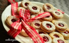 Christmas cookies ready for giving #redribbon #cookies