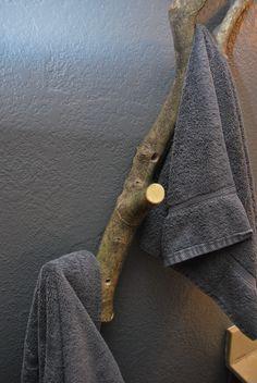 Tree Hook for woodsy bathroom