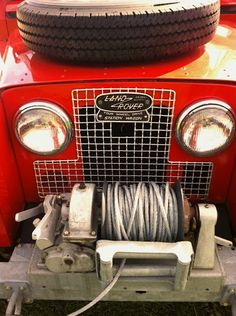 Land Rover set up for a winch