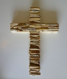 Beautiful! Driftwood Cross by PenuelSports on Etsy