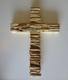 Beautiful! Driftwood Cross by PenuelSports on Etsy