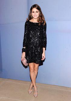 Olivia Palermo en la fiesta de lanzamiento del Valentino Garavani Virtual Museum en Nueva York el 7 de diciembre. Usa un vestido de Marchesa.