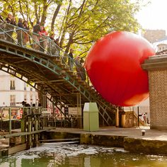 The RedBall Project, a traveling outdoor art display, coming to a city near you.