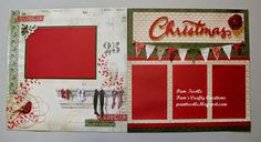 CTMH Yuletide Carol layout from Pam's Crafty Creations   like the left page best