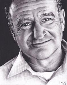 Robin Williams Tribute by xabigal-eyesx   | First pinned to Celebrity Art board here... http://www.pinterest.com/fairbanksgrafix/celebrity-art/ #Drawing #Art #CelebrityArt