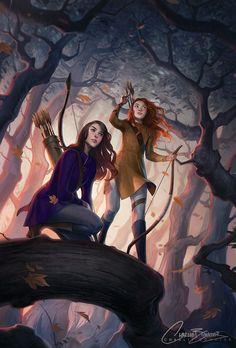League of Archers by Charlie Bowater on Deviantart, Inspirational Artist - Don Corgi