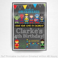 Superhero Birthday P