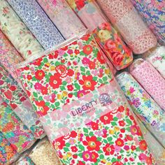 Liberty fabric new box Fabric London, Liberty Of London Fabric, Liberty Fabric, Liberty Print, Flower Power, Fabric Yarn, Quilting Fabric, Textiles, Floral Fabric