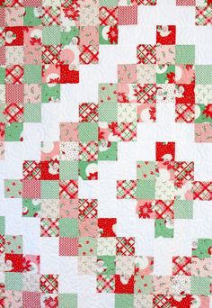 Christmas Quilt Patterns, Easy Quilt Patterns, Christmas Quilting, Block Patterns, Quilting Tutorials, Quilting Projects, Quilting Ideas, Sewing Tutorials, Sewing Crafts
