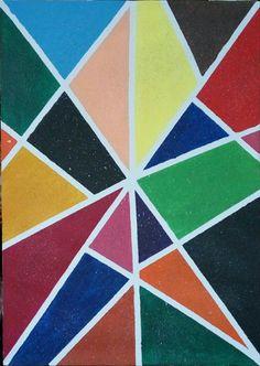Lukisan modern full colour
