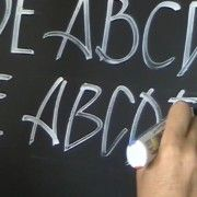 Chalk board artist and signwriter John Neal shares this video of how to letter with Zig Posterman Paint Markers. Demonstrating several font styles, including standard lettering, condensed, italic, stylistic and even serif fonts all done by hand. Zig Waterproof markers come in a variety of sizes.  They have some of the widest markers on the market.  In so many colors.