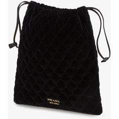 Prada quilted pouch (€285) ❤ liked on Polyvore featuring bags, handbags, clutches, drawstring pouch, quilted pouch, prada, pouch purse and prada hand