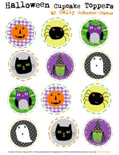 We Love to Illustrate: Happy Halloween Cupcake Toppers