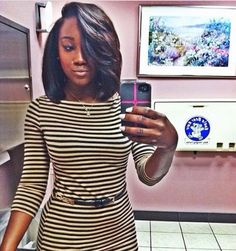 wanna give your hair a new look? Weave bob hairstyles is a good choice for you. Here you will find some super sexy Weave bob hairstyles, Fi . Love Hair, Great Hair, Gorgeous Hair, Short Styles, Long Hair Styles, Weave Styles, Weave Bob Hairstyles, Hairstyles 2018, Mommy Hairstyles