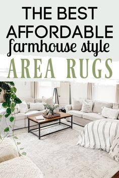 I am sharing a collection of beautiful and affordable area rugs that are the perfect compliment to any farmhouse style look. Living Room Area Rugs, Living Room Carpet, Room Rugs, Farmhouse Style Rugs, Farmhouse Area Rugs, Affordable Area Rugs, Bohemian Living Rooms, Vintage Rugs, Backyard Patio