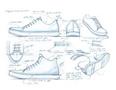 nice shoe sketch // Nick Maloy - My Recommendations Shoe Sketches, Drawing Sketches, My Drawings, Sketching, Design Reference, Drawing Reference, Document Iconographique, Sneakers Sketch, Logos Retro