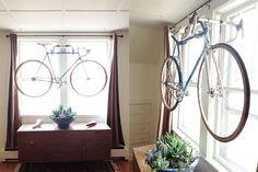 DIY Wall Bike Rack Made from Old Handlebars