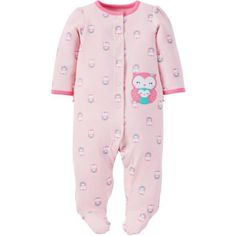 2be4c3b0c Child of Mine made by Carter's Newborn Baby Girl Sleep n' Play - Walmart.