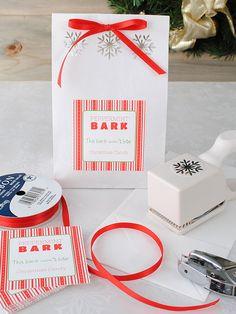 Easy DIY gift package using custom labels. www.bottleyourbrand.com