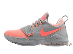 hot sale online 871da 48113 Nike PG 1 Gris Orange 878627 ID5 Homme Officiel NIke Prix Pour Chaussures  Gris-Air Jordan