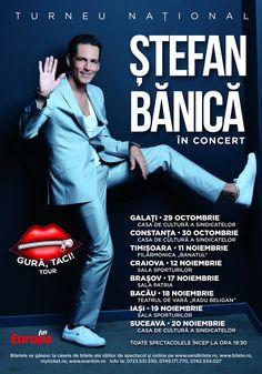 """Ștefan Bănică spune """"Gură, taci!"""", la Iași Liberia, Oras, Romania, Movie Posters, Movies, Film Poster, Films, Movie, Film"""