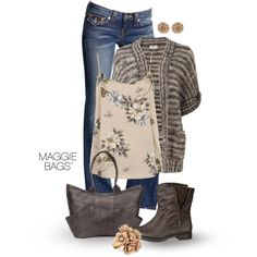 Slouch Cardigan, created by maggiebags on Polyvore