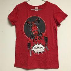 Selling this Marvel Deadpool Tacos Shirt in my Poshmark closet! My username is: spakx. #shopmycloset #poshmark #fashion #shopping #style #forsale #Tops