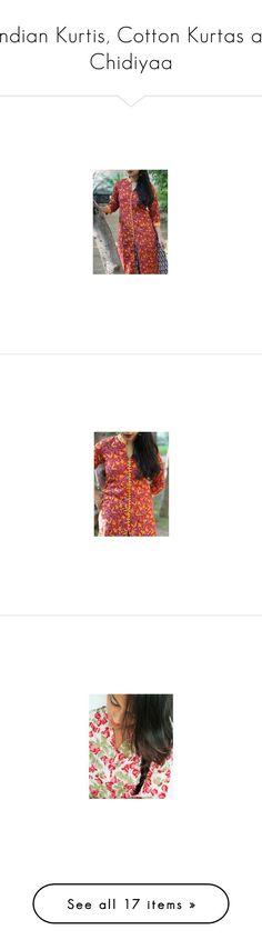 """Indian Kurtis, Cotton Kurtas at Chidiyaa"" by leesa-steave on Polyvore"