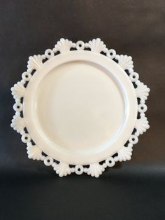 Vintage Plate by Westmoreland Ring and Petal by IndianaGlassChick