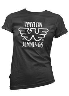 Waylon Jennings Merch Co. - Waylon Jennings Est. 1937 Womens Tee Shirt