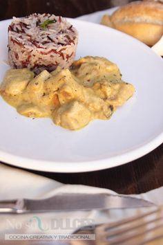 No solo dulces - Pollo al curry con arroz salvaje