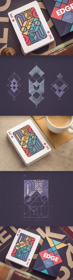 """Edge"" playing cards visual and concept design by Mike 