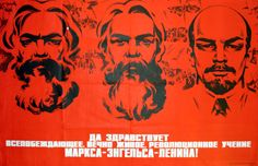 Revolutionary Teachings, 1977 - original vintage poster by V Sachkov listed on AntikBar.co.uk