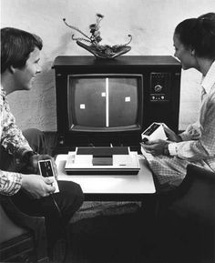 wow. Remember how awesome we thought this was? Pong on Atari? It is mind blowing to really think of how far technology has come in such a short amount of time. YES, SHORT AMOUNT OF TIME! I am NOT THAT old!!!