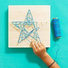 Adorable String Art Crafts: How to Make String Art (via FamilyFun magazine)