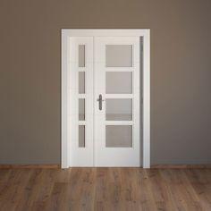 Puerta de interior con cristal Artens LUCERNA BLANCA Ref. 15718255 - Leroy Merlin