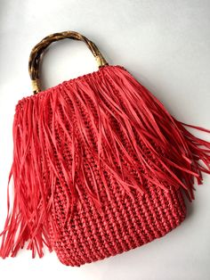 Crochet Fashion, Bucket Bag, Shoulder Bag, Purses, Personalized Items, Photo And Video, Hair Styles, Model, Beauty