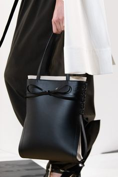 Ikebana Bow Leather Tote by Loewe Tote Bag, Backpack Purse, Everyday Bag, Loewe, Lanvin, Calf Leather, Fashion Bags, Bucket Bag, Calves